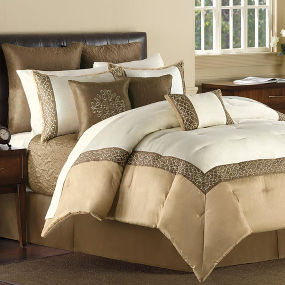 Carlyle-Embroidered-Oversize-16-Piece-Bed-In-A-Bag-NEW
