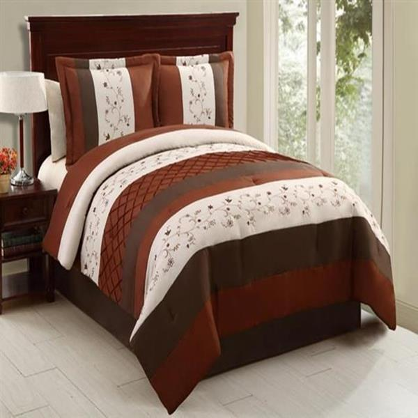 Embroidered 4 Piece Comforter Bed In A Bag Set New Ebay
