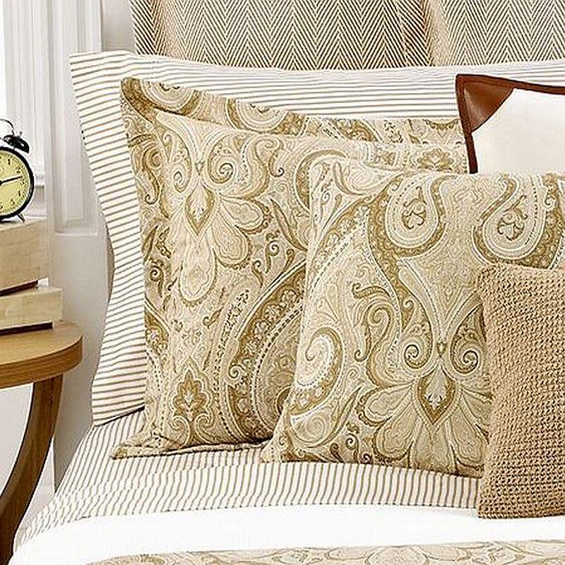 ralph lauren desert spa stripe queen fitted sheet tan white new. Black Bedroom Furniture Sets. Home Design Ideas