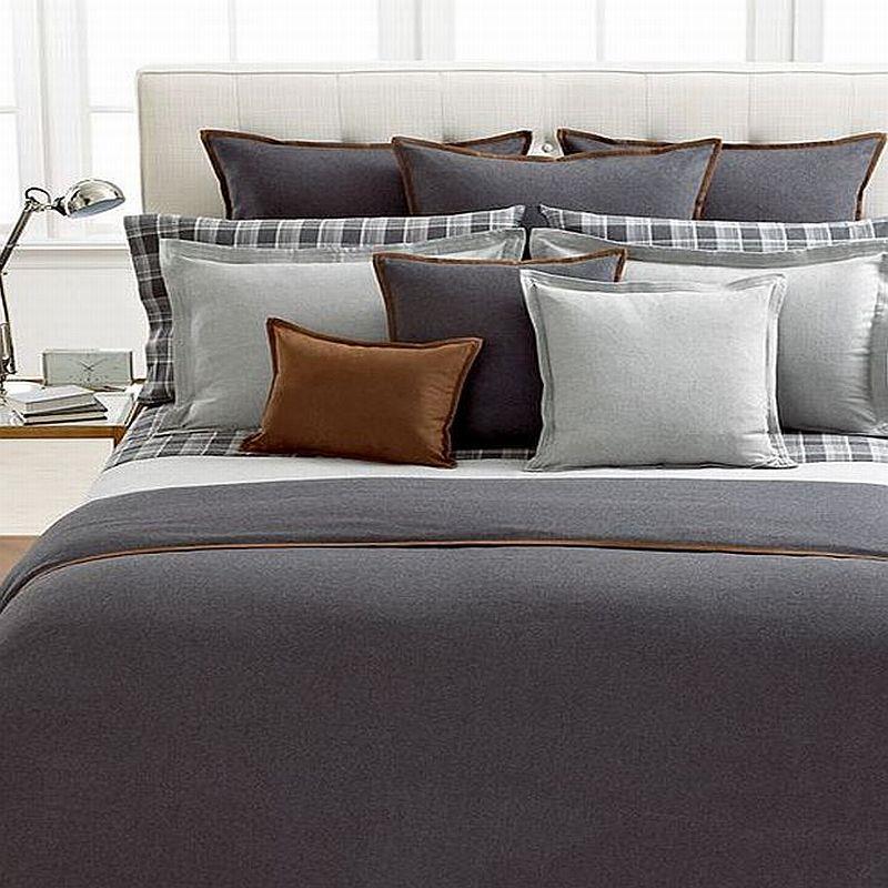 Ralph Lauren Holden Full Queen Comforter Dark Grey New Ebay