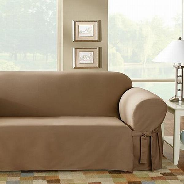 Sure Fit Logan Camel Sofa Slip Cover NEW