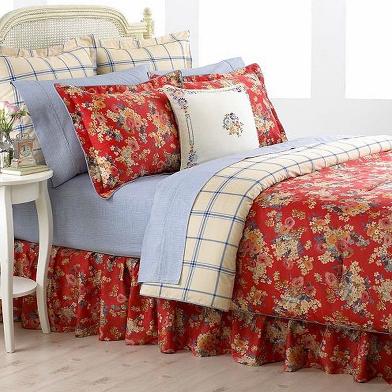 Ralph Lauren Madeline Queen Comforter Red Floral New Ebay