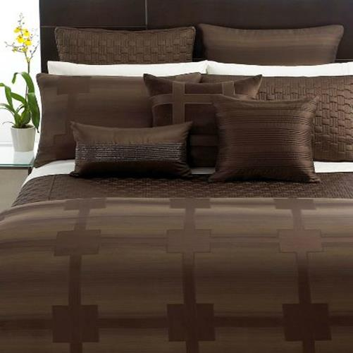 Hotel Collection Brushstroke Coverlet: Hotel Collection Meridian Sepia Cal King Quilted Coverlet
