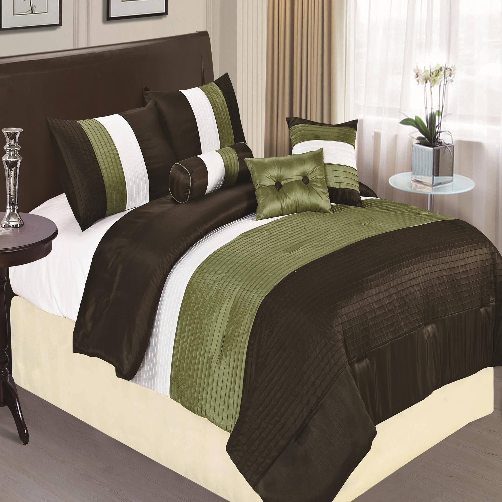 Preston Sage 7 Piece Comforter Bed In A Bag Set