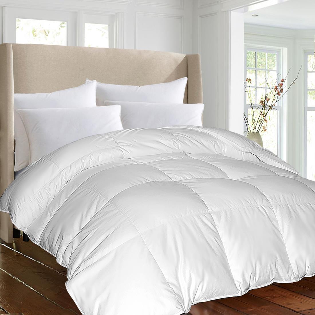 Blue Ridge 1000 TC Egyptian Cotton cover Down Alternative Comforter White