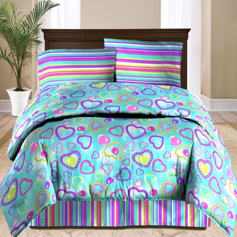 claudette comforter set in purple blue buybuy baby