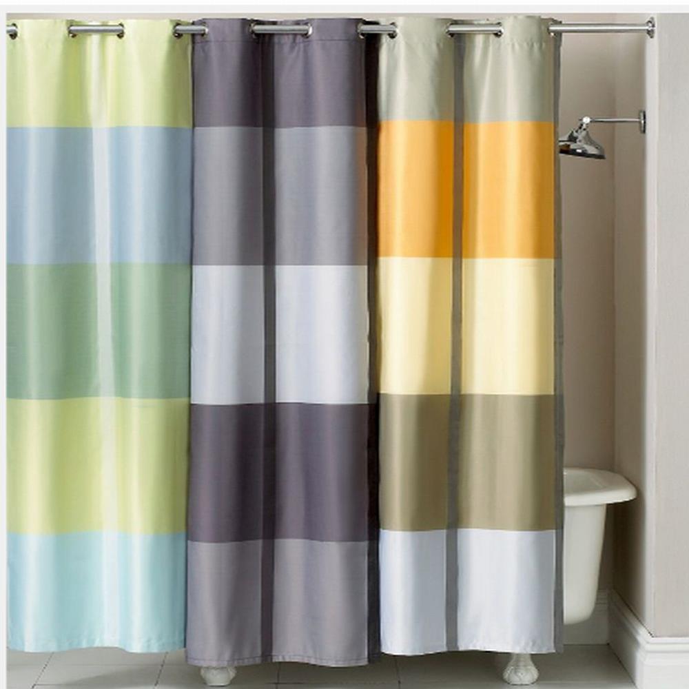 striped bathroom ideas g shower yellow pink curtains curtain