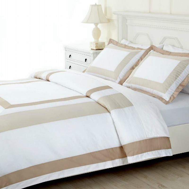 Martha stewart thompson square full queen duvet cover for Carre blanc housse de couette