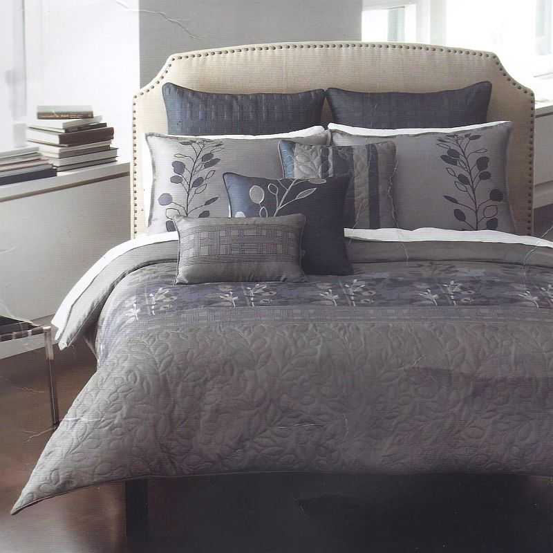 Bed In A Bag Gray And Blue : Bryan keith tuscany queen piece comforter bed in a bag