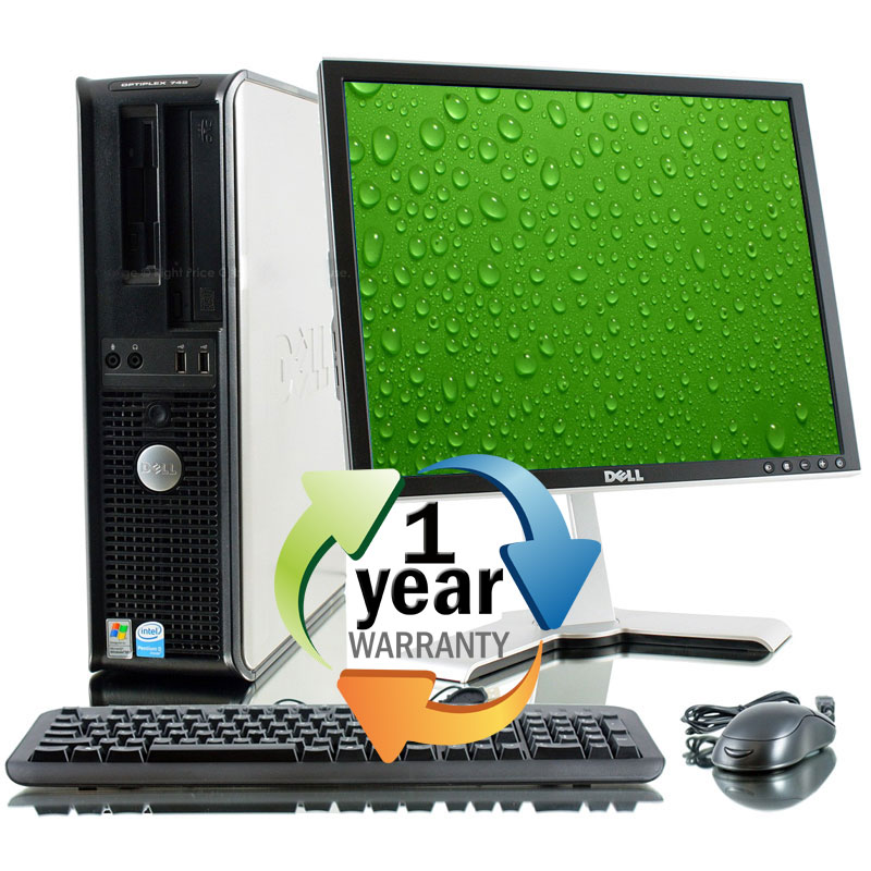 "Dell REFURBISHED Dell Optiplex 760 3.0GHz C2D 4GB 1TB DVD Win7 Pro Desktop Computer w 19"" LCD at Sears.com"