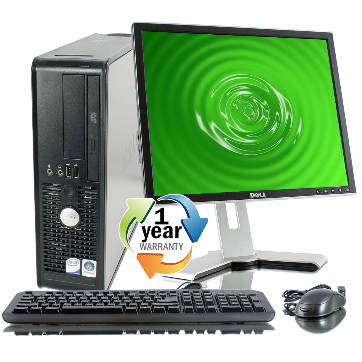 "Dell REFURBISHED Dell Optiplex 780 3.0GHz 2GB 400GB DVD Win 7 Home Desktop Computer + 17"" LCD at Sears.com"