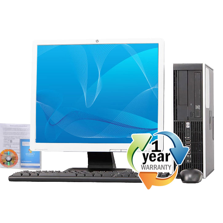 "HP REFURBISHED HP 8000 Elite 2.93GHz C2D 8GB 1TB DVD Win7 Pro Small Form Computer PC+17""LCD at Sears.com"