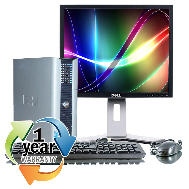 "Dell REFURBISHED Dell Optiplex GX620 2.8GHz P4 2GB 400GB DVD Win XP Pro Computer PC + 19"" LCD at Sears.com"