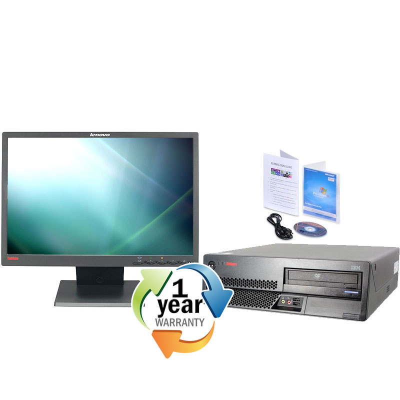 "IBM Lenovo REFURBISHED IBM Lenovo M55 Core 2 Duo 1.8Ghz 1024MB 80GB DVD Windows 7 Desktop 7 19"" LCD at Sears.com"