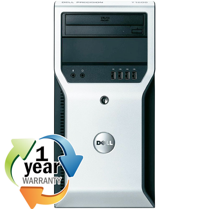 Dell REFURBISHED Dell Precision T1600 3.1GHz Xeon Quad 4GB 1TB DVD Win7 Pro64 Tower Computer PC at Sears.com