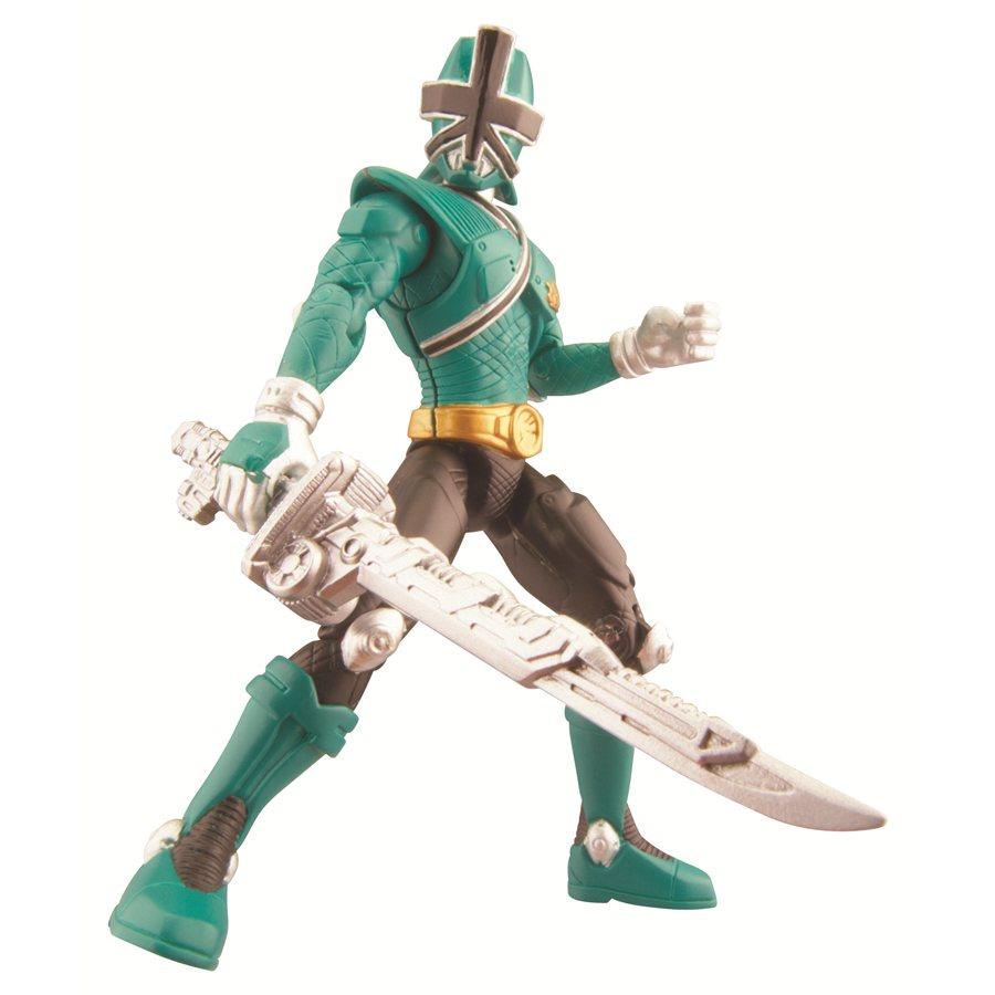 POWER RANGERS === Samurai Green Forest Mega Ranger 10cm Figure