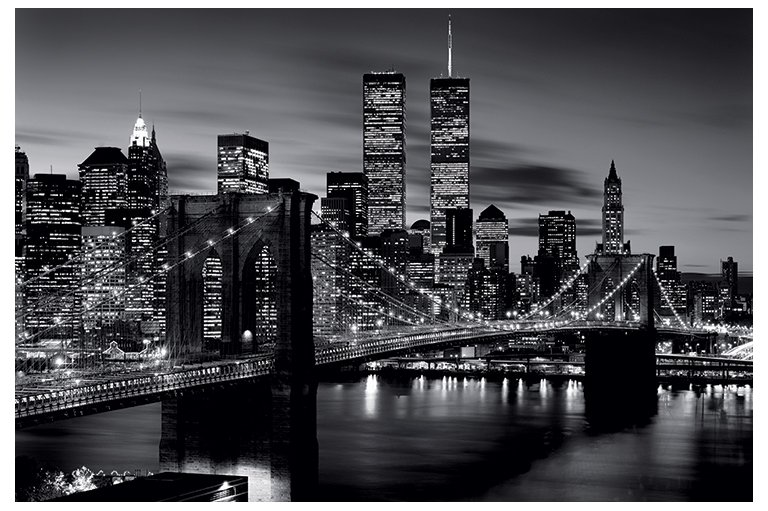 brooklyn bridge black and white new york poster ebay. Black Bedroom Furniture Sets. Home Design Ideas