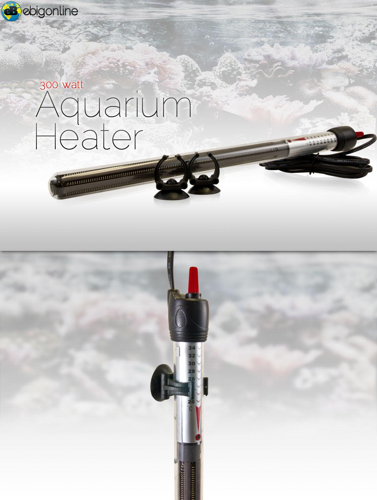 300w aquarium submersible fish tank water heater ebay for Fish water heater
