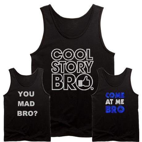 BRO-College-Black-Tank-Tops