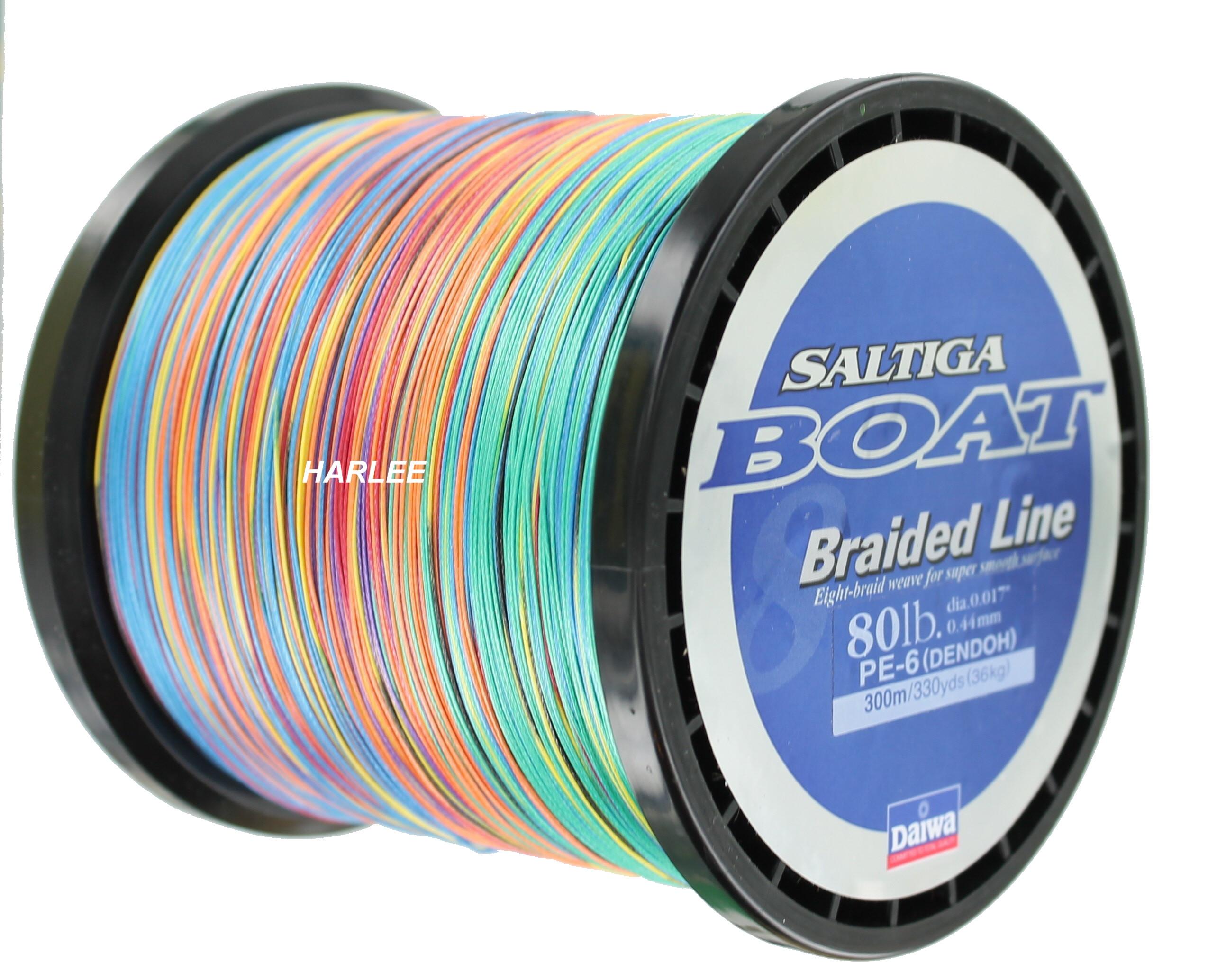 Daiwa saltiga boat braided fishing line 330yds 80lb sab for 80 lb braided fishing line