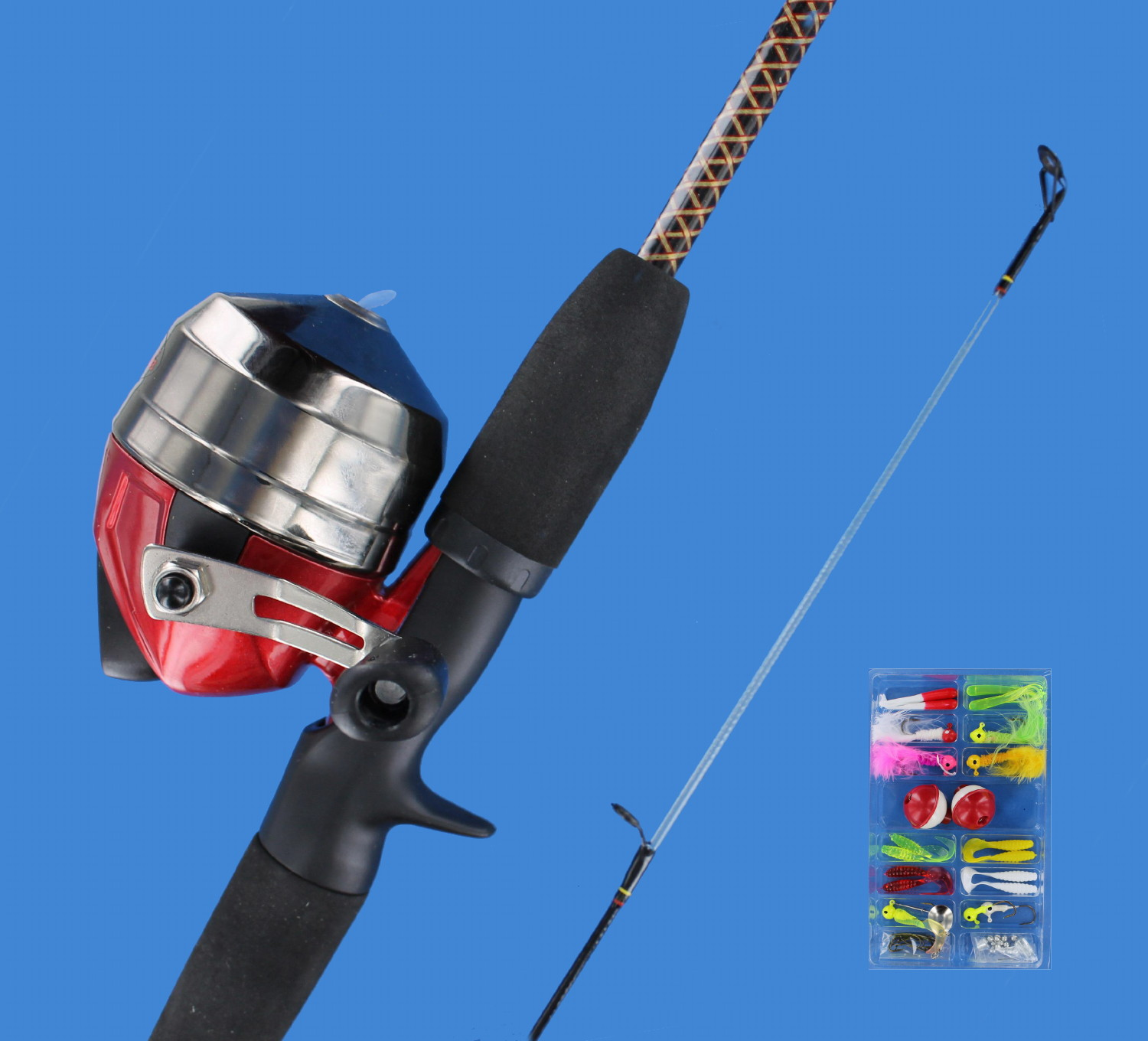 Shakespeare ugly stik 5 39 fishing rod spincast reel for Ugly stick fishing poles
