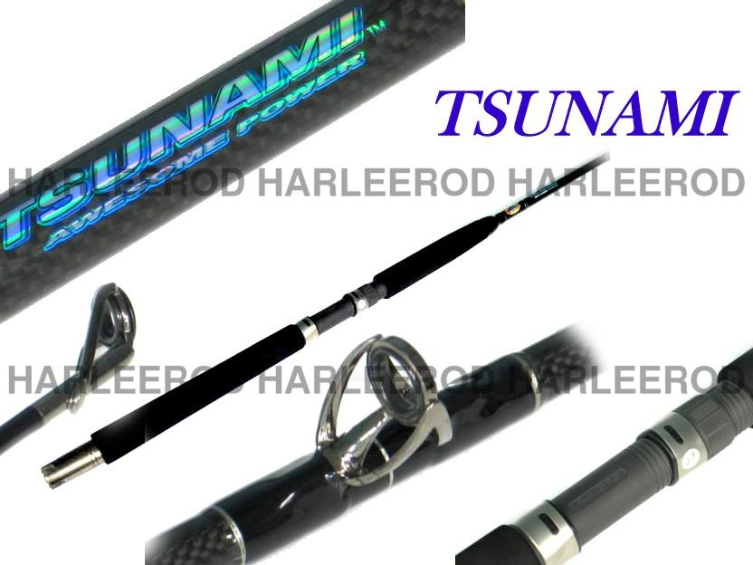 Tsunami saltwater fishing rod heavy conventional 6 39 6 for Tsunami fishing rods