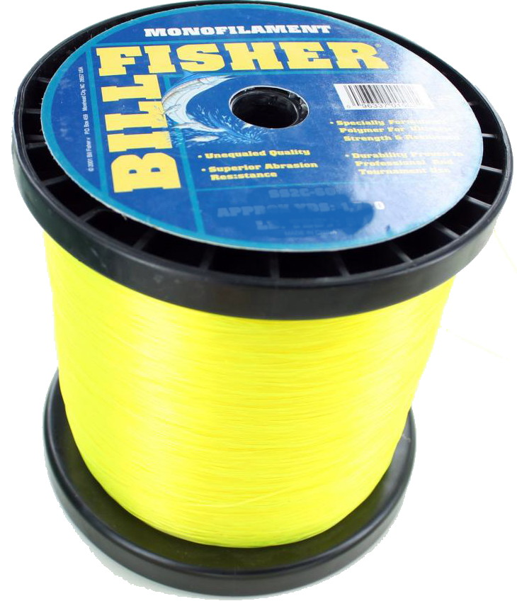 billfisher hi vis yellow monofilament fishing line 60 lb