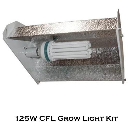 DL Wholesale 125W CFL Fluorescent Bulb Grow Light Hood Reflector Hydroponics Kit - 125 Watt at Sears.com