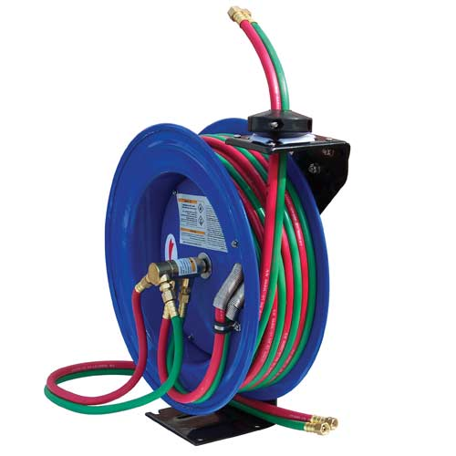 "Cyclone Pneumatic CP3100 1/4"" x 100' Air Hose Reel ? Retractable, Dual-Hose Welding Reel at Sears.com"