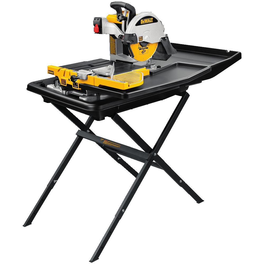"DeWALT D24000S 10"" Wet Tile Stone Slate Saw + Portable Stand D24000 at Sears.com"