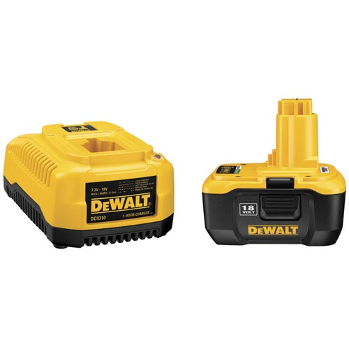 DeWALT 18V Lithium Ion Cordless Tool Battery Pack & Charger - DC9180 DC9310 at Sears.com