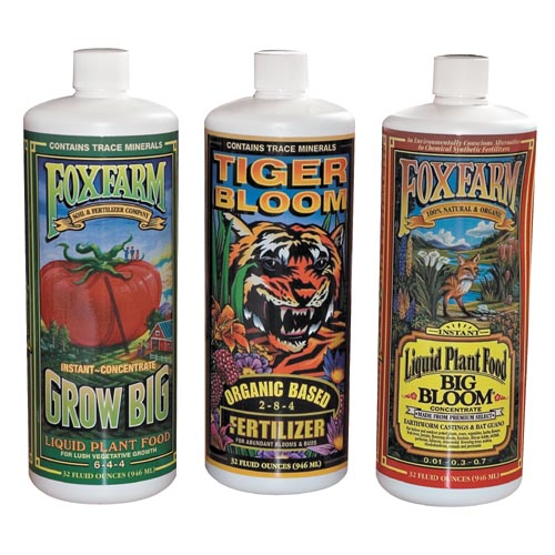 DL Wholesale FoxFarm Grow Big Tiger Bloom Hydroponic Nutrients Trio at Sears.com