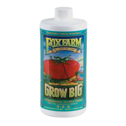 DL Wholesale Fox Farm Grow Big Hydroponic Plant Nutrient 1 Quart Liquid QT at Sears.com