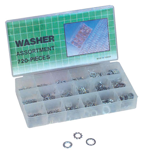 Berk Automotive Washer Assortment Kit Lock Washers Set - 720 Pc at Sears.com