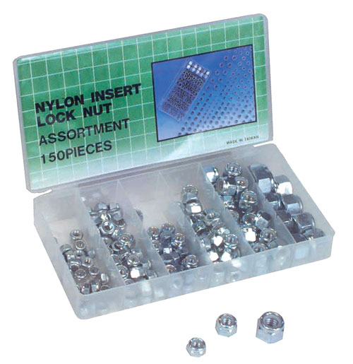 Berk Automotive Nylon Insert Bolt Lock Nut Assortment Tool Kit - 150 Pc at Sears.com