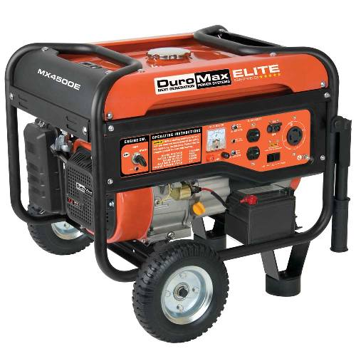 DuroMax Elite 4500 Watt Electric Start Portable Gas Powered RV Camping Generator MX4500E at Sears.com