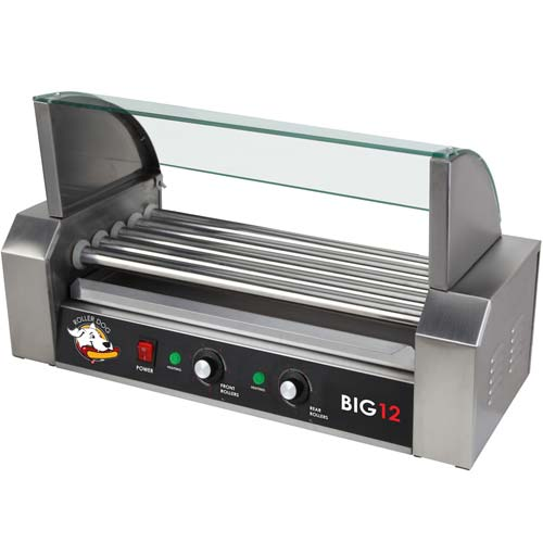 ROLLER-DOG Roller Dog Commercial 12 Hot Dog 5 Roller Grill Cooker Machine - RDB12SS-KIT at Sears.com