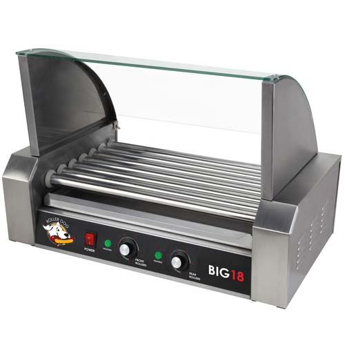 ROLLER-DOG Roller Dog Commercial 18 Hot Dog 7 Roller Grill Cooker Machine - RDB18SS-KIT at Sears.com