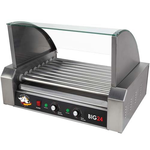 ROLLER-DOG Roller Dog Commercial 24 Hot Dog 9 Roller Grill Cooker Machine - RDB24SS-KIT at Sears.com