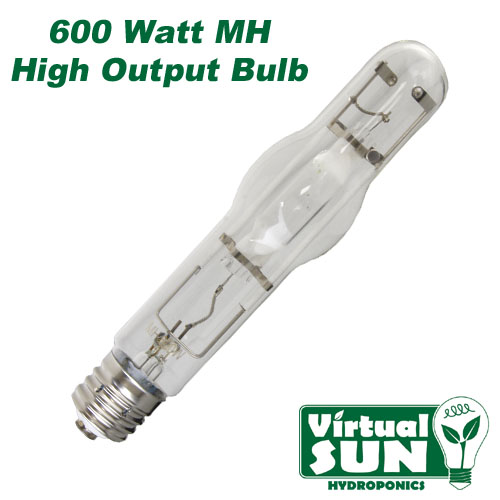 Virtual Sun 600W MH Metal Halide Grow Lamp Light Bulb