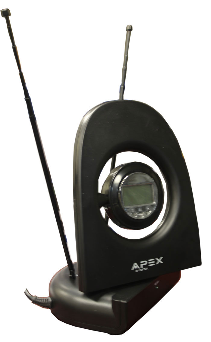 APEX SM550BK AC/DC 12Volt Digital Amplified Indoor Antenna with Smart Connector and Digital Clock at Sears.com