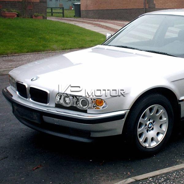 1995 2001 BMW E38 740IL 750IL Halo Chrome Clear Projector