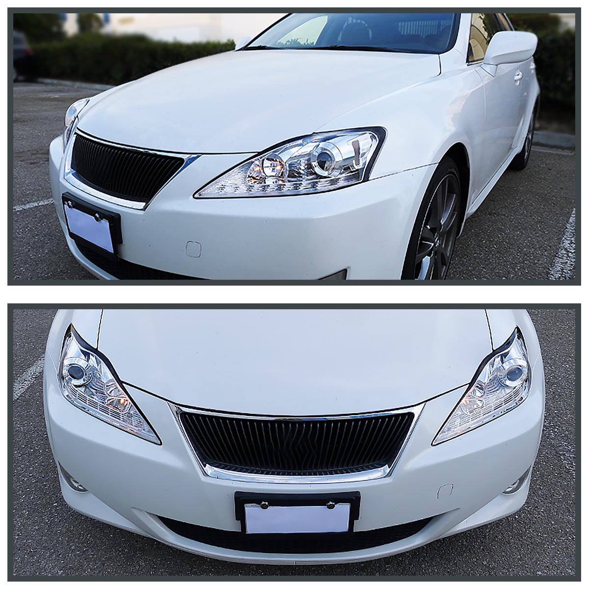 2006-2009 Lexus IS250 Chrome LED DRL+Turn Signal Strip