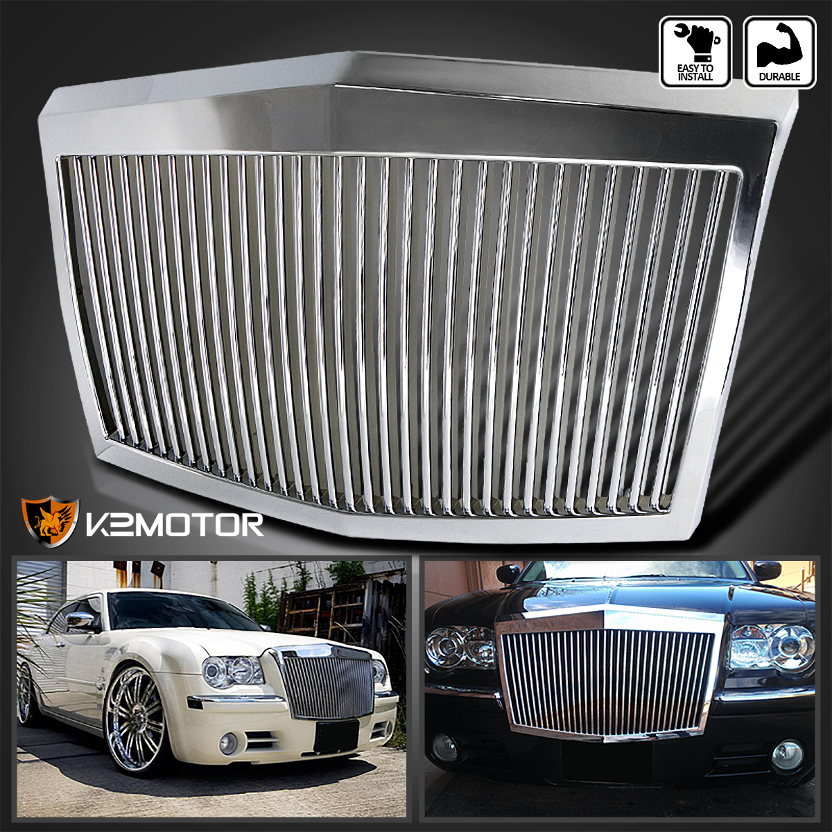 05 10 chrysler 300 chrome led projector headlights fog. Black Bedroom Furniture Sets. Home Design Ideas