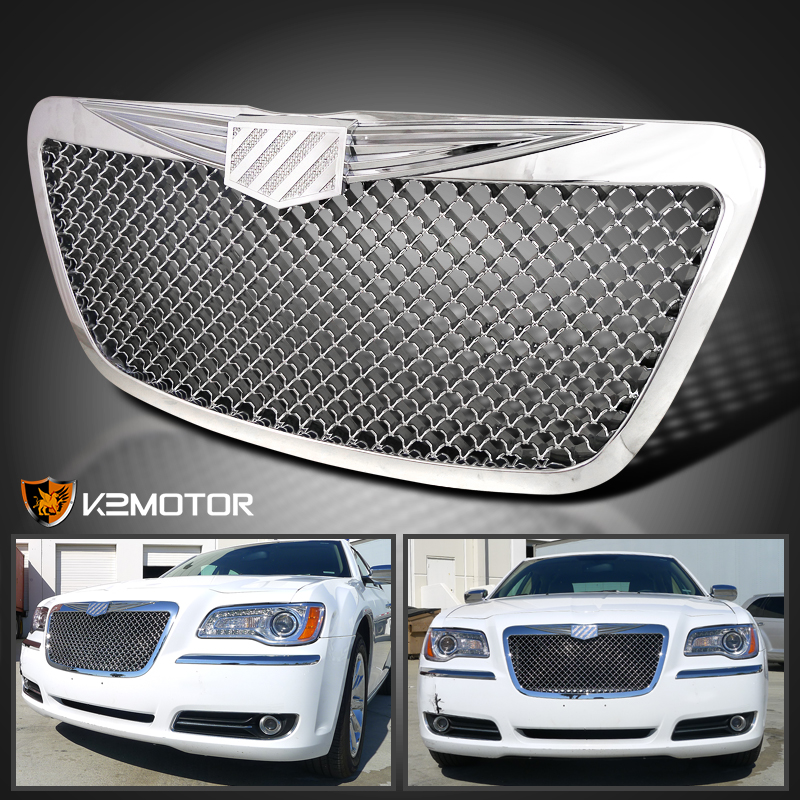 2011 2014 Chrysler 300 300c Fog Light Stainless Steel Mesh: 2011 2014 Chrysler 300 300C Chrome Grill Mesh Style Grille