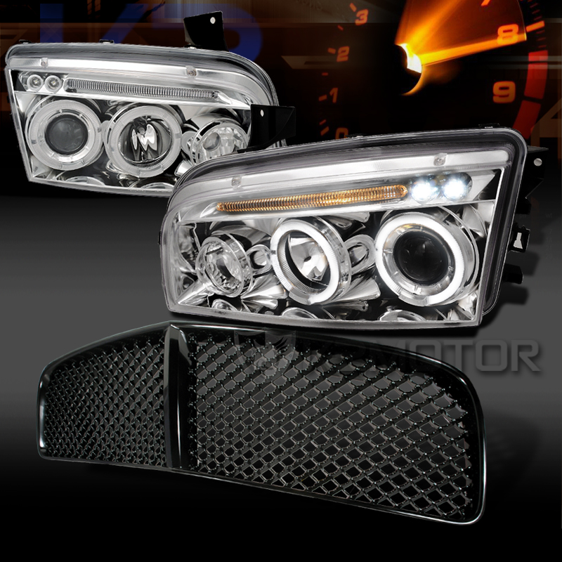 2006 2010 Dodge Charger Halo Led Chrome Projector