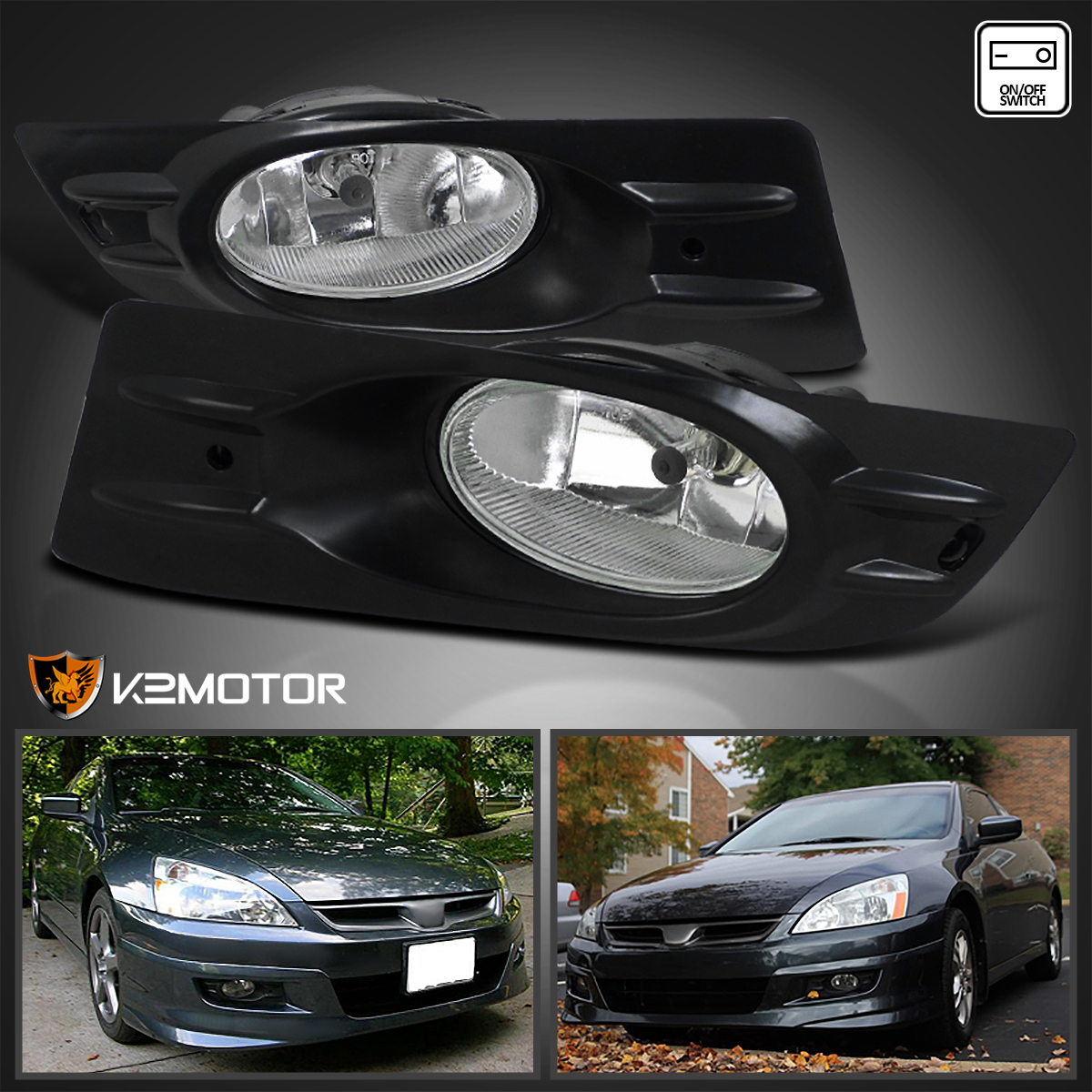 about 2006 2007 honda accord coupe clear bumper fog lights switch. Black Bedroom Furniture Sets. Home Design Ideas