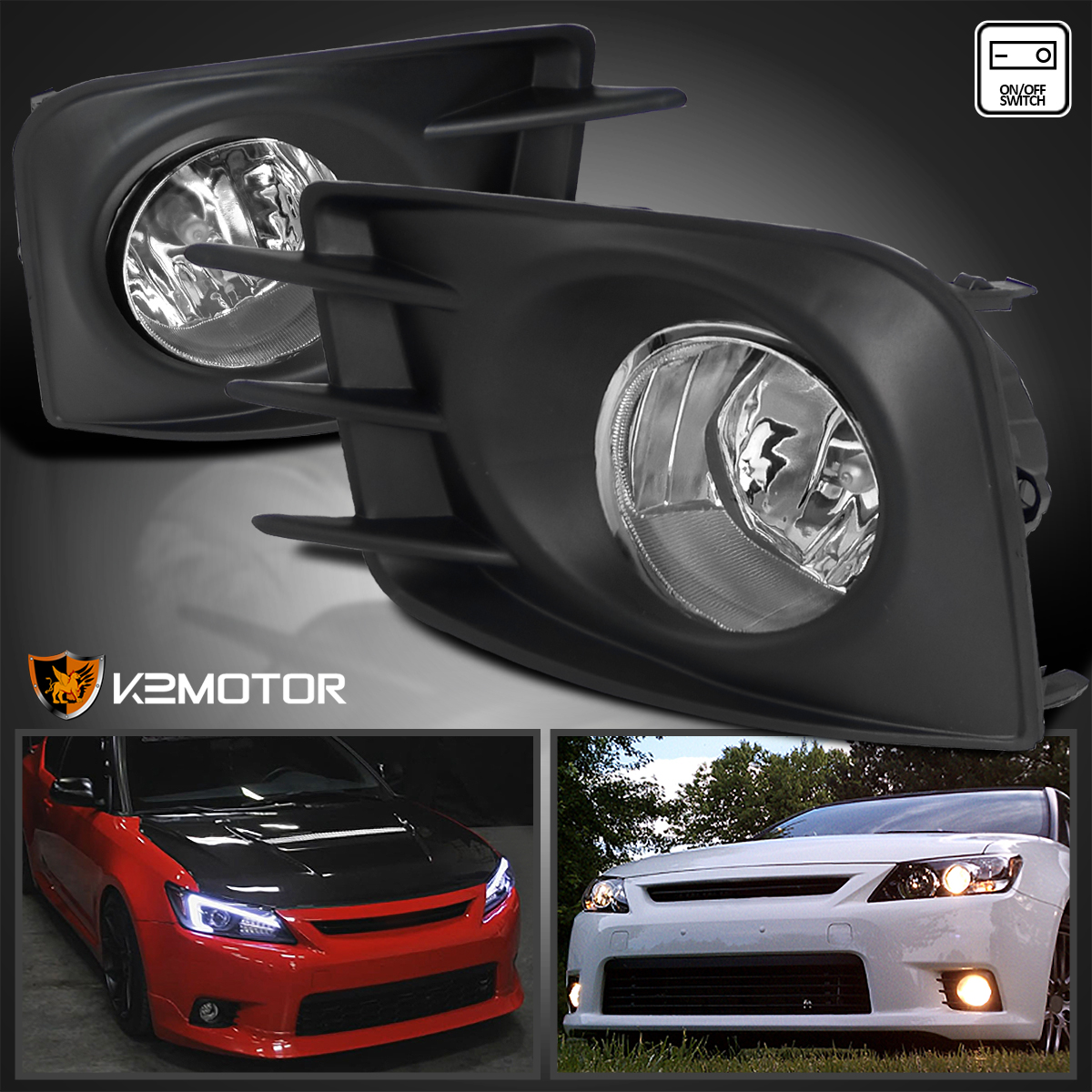 2011 2013 Scion Tc Clear Daytime Running Bumper Fog Lights