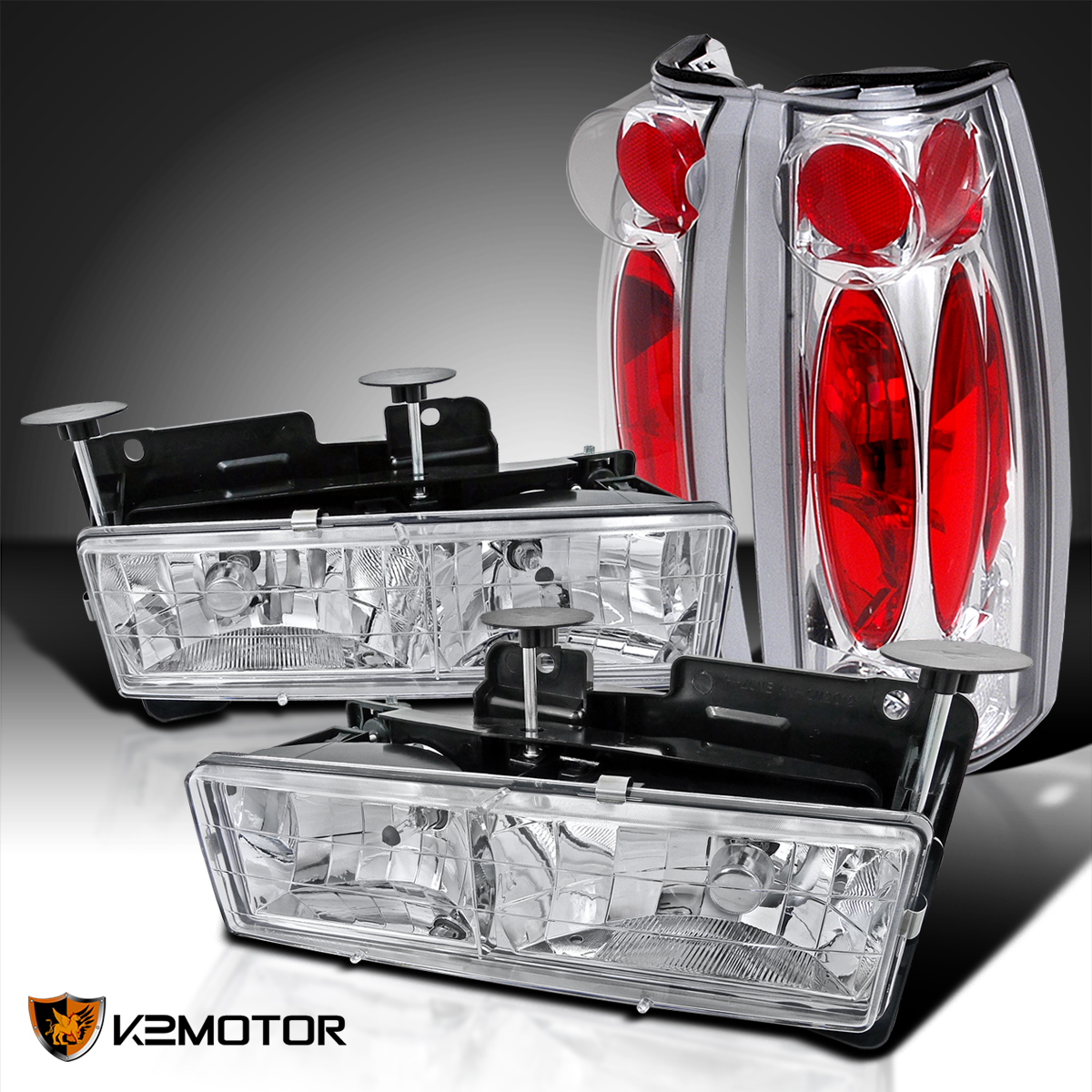 88 98 Chevy Gmc C K C10 Truck Chrome Headlights Chrome