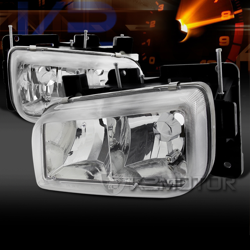 99 00 Cadillac Escalade GMC Yukon Denali Crystal Clear Headlights Pair